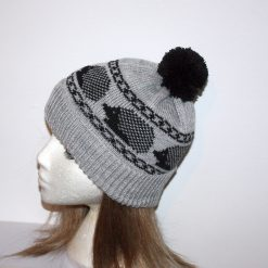 Beanie Hat with Hedgehogs in a choice of colours - with or without pompom - adults size