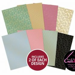 Hunkydory - A Fabulous Finishes - Floral Elegance - Fabulous Foiled Edge-to-Edge Cardstock - A4 - 350gsm - 16 Sheets