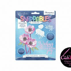 Moonstone - Hunkydory - Snippables - Floral Favourites - Anemones Cutting Dies