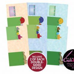 Moonstone - Hunkydory - Happy Places - Set The Scene Tri-Panel Card Blanks - Fairground Fun