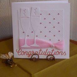 Congratulations Champagne Flute card