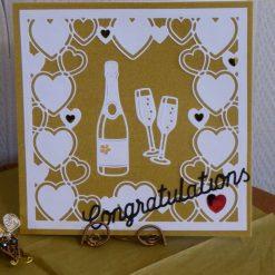 Champagne & Hearts Congratulations Card