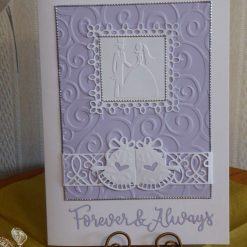 Bride & Groom Wedding Card with optional gift wallet & tag
