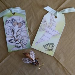 Butterfly & Bird Gift Tags, (set of 2)