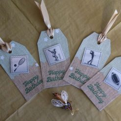 Sports Themed Gift tags (set of 4)