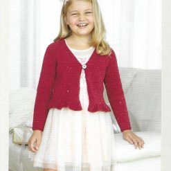 Girls Cardigan Knitting Pattern • Long-Sleeved Raglan Cardie • Ages 2 to 13 years • PDF Download