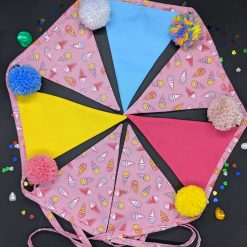 Bunting - ice cream and pompoms
