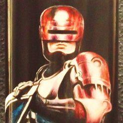 Robocop - 8oz Hand-painted Hip Flask