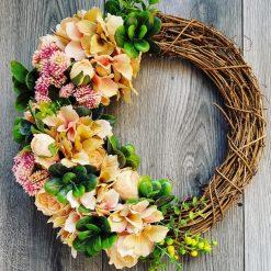 Beautiful hand nade artificial door wreath
