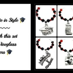 Graduation Wine Glass Charms