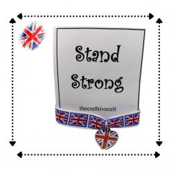 Union Jack Ribbon charmed bracelet