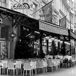 12x10 print of CAFE Aida, Vienna.