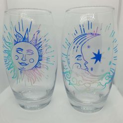 Holographic celestial sun and moon glasses