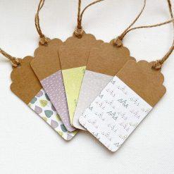 Set of 5 Handmade Whimsical Gift Tags