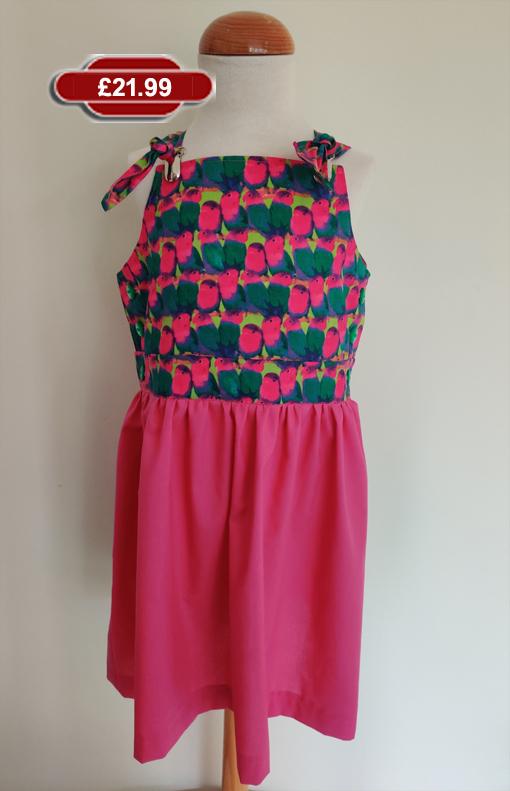 Aussie Parrots Sun Dress by SerendipityGDDs, for girls aged 5