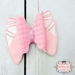 Ballet Shoes Pink Hair Bow Clip or Headband