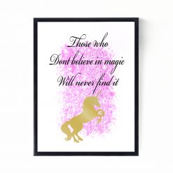 Unicorn Print | Nursery Print | Nursery Decor | Children's Print