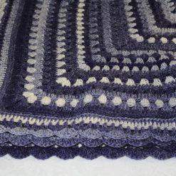 Unique purple lap or cot crochet blanket