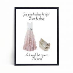 Dress & Shoes Print | Nursery Print | Nursery Decor | Children's Print