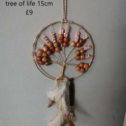 Handmade Tree of Life Dreamcatcher - Blue