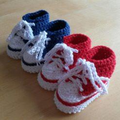 0-3 month Crochet Baby Hightop Booties