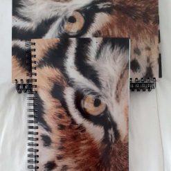 A tiger's eye A5 notebook