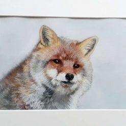 Furry fox painting