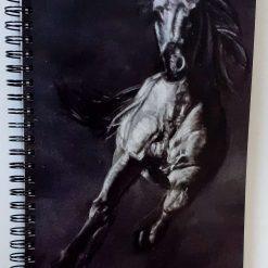 A5 notebook featuring stallion