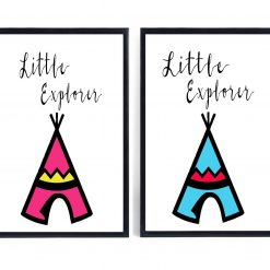 Little Explorer Print | Nursery Print | Nursery Decor | Children's Print