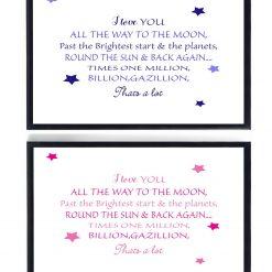 To The Moon Print | Nursery Print | Nursery Decor | Children's Print