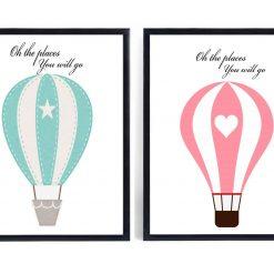 Places You Will Go Print | Nursery Print | Nursery Decor | Children's Print