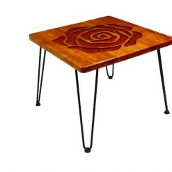 Red Rose Resin Table