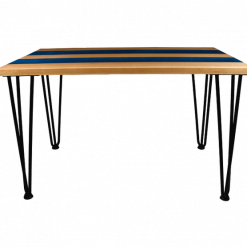 Striped Resin Table