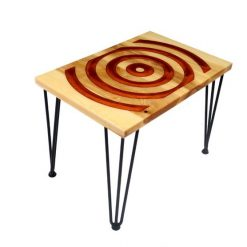 Red Target Resin Table