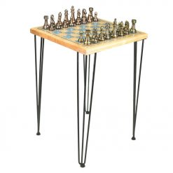 Blue Chess Table