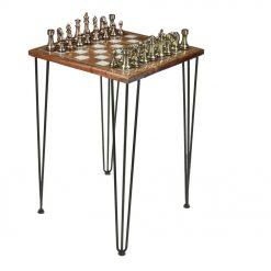 Dark Wood Chess Table