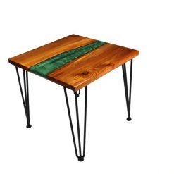 Turquoise River Side Table