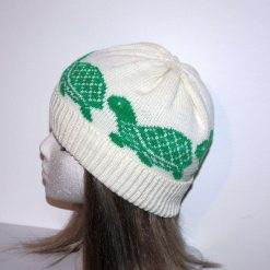 Turtles or Tortoise on a Beanie Hat in a choice of colours - with or without pompom - adults size