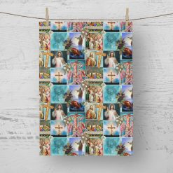 Tea Towels Religious assorted - 100% Cotton Poplin **Exclusive** (Set of 4)