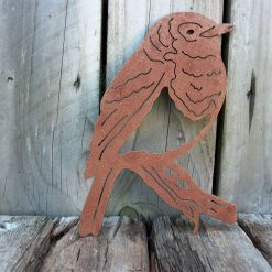 A Rusty Metal ROBIN / BIRD Garden Ornament Rustic Vintage Birthday Gift Special Present