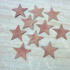 10 x Rusty Metal SMALL STARS Garden Ornament Rustic Vintage Gift Birthday Present