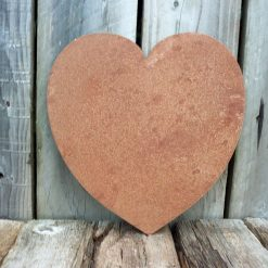 A Rusty Metal Solid HEART Garden Ornament Rustic Vintage Gift Birthday Special Present