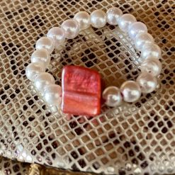 Red Coral Thumb Ring