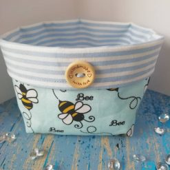 Small fabric basket in a lovely Bee design - fully lined