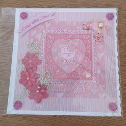 Baby girl congratulations card