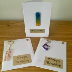 Happy Birthday Card with Removable Resin Gift
