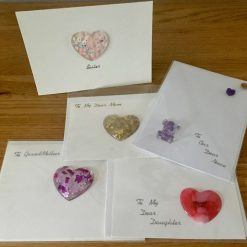 Card for Female Family Member with Removable Resin Gift