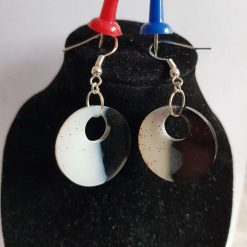 Fun Handmade Round Dangle Earrings.
