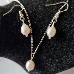 Sterling silver earring & pendant set.