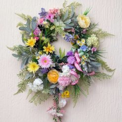 Pastels - Large Sized Custom Artificial Wreath Available to Buy Now
